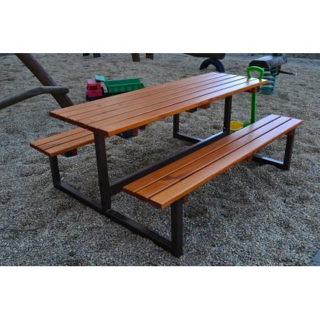 Dětská stololavice s kovovými boky pro 4 osoby
